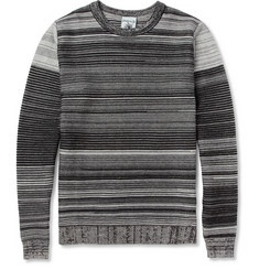 S.N.S. HerningLinks Ribbed-Knit Cotton and Merino Wool-Blend Sweater