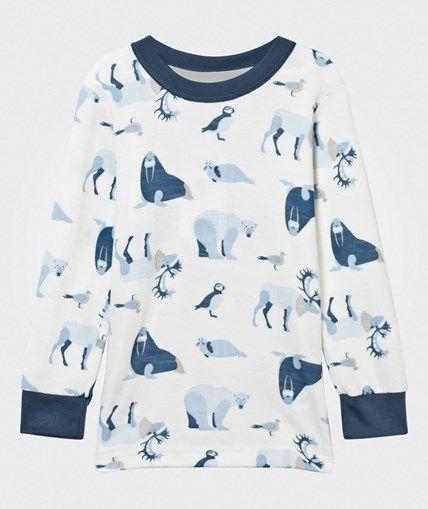 Joha Arctic Zone Långärmad T-shirt Blå Multi Arctic Zone Blue Multi