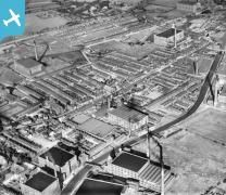Cotton Mills off the Bridgewater Canal, Chapel Street and environs, Leigh, 1937