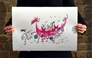 Image of The Illustration Creature - Signed Limited Edition Print by Quentin Blake