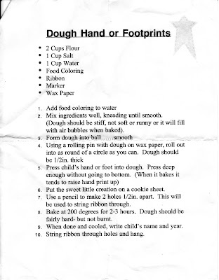 The Sagers Family: Salt Dough Hand & Footprints