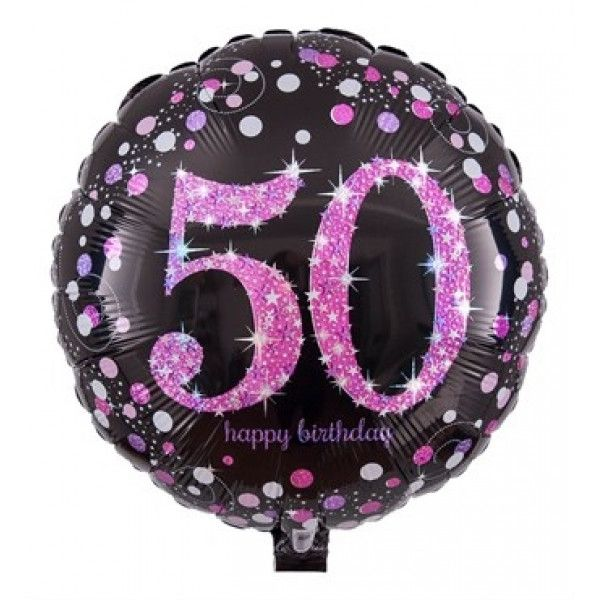 Numbers Balloon 50th Birthday With Pink Highlights Send A Lady On Her This Pretty Congratulations