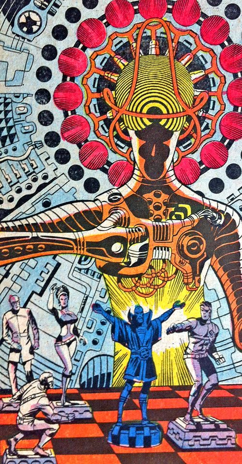 Nick Fury - Jim Steranko. This channels 60s psychedelia as seen in the panels of Jack Kirby's Thor and Fantastic Four plus Steranko own twist on the 60s