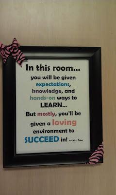 Love sayings to put on classroom door