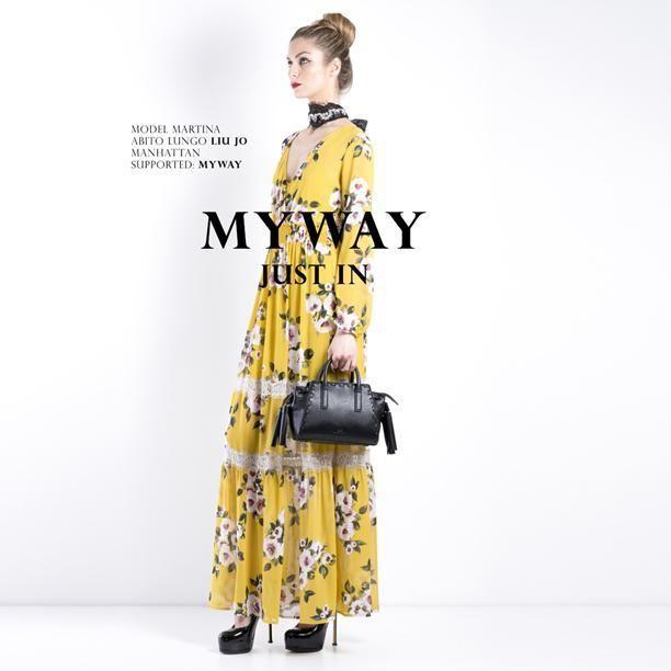 Shop Novità  fllorealhttps://goo.gl/FWDRuw #myway #liujo #fashion #abitolungo