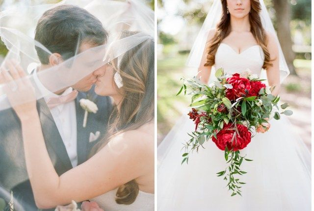 Modern Tampa Museum Wedding, Bourbon and Blush Events, Curtis Hixon Park, Film Photography, Tampa Wedding Photographer, Miss Hayley Paige, Bridal Gown, Burgundy Peonies, Peony bouquet, organic bridal bouquet, organic bouquet