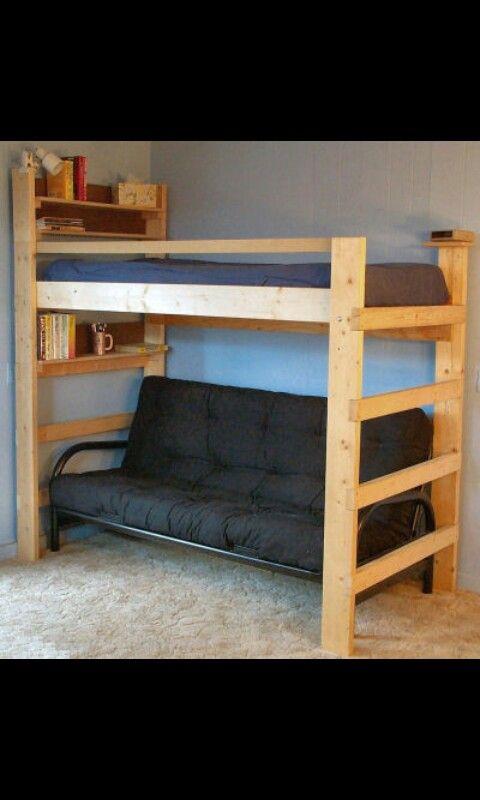 Homemade loft for extra room in ur room