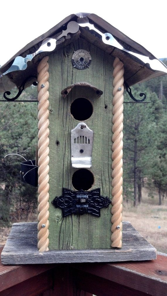 Train Station inspired BIRDHOUSE