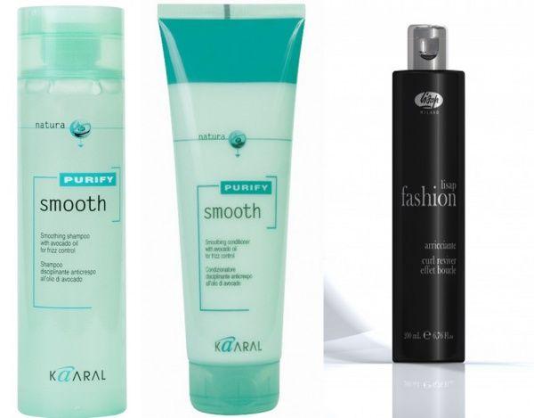 Уход за вьющимися волосами Шампунь для вьющихся волос/Kaaral Smooth Shampoo Кондиционер для вьющихся волос/ Kaaral Smooth Conditioner Крем-гель для создания завитков/ Lisap Fashion Arricciante curl reviver