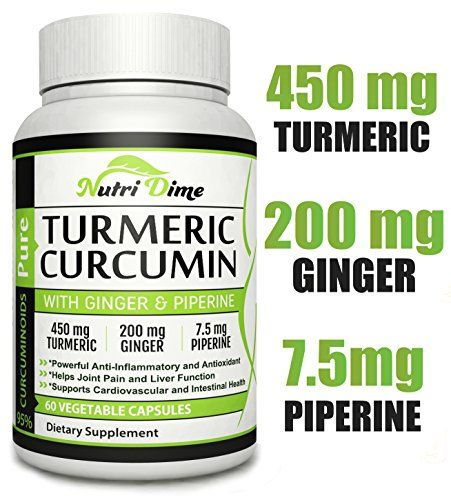 Turmeric Curcumin Ginger Capsules - 60 Organic root pills with Black Pepper. Quickly Absorbed Pure Ayurveda Bio Miracle - http://alternative-health.kindle-free-books.com/turmeric-curcumin-ginger-capsules-60-organic-root-pills-with-black-pepper-quickly-absorbed-pure-ayurveda-bio-miracle/