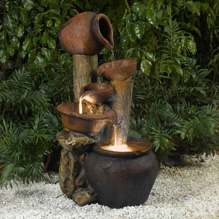 Beautiful Small Water Feature One Of The Left Over Pots Would Work  Perfectly For This U2026 | Pinteresu2026