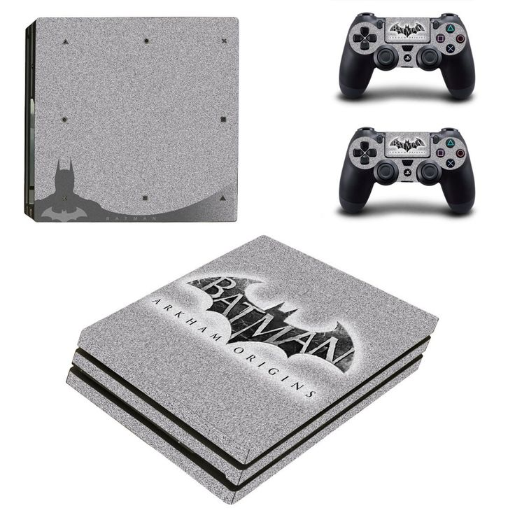 Batman Arkham Origin Ps4 pro edition skin decal for console and controllers