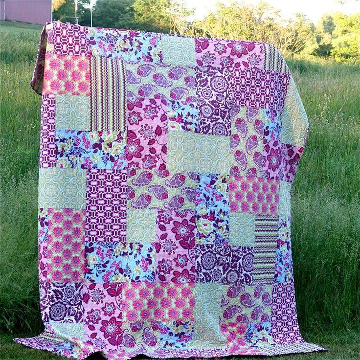 25+ best ideas about Big block quilts on Pinterest Large print quilt blocks, Simple quilt ...