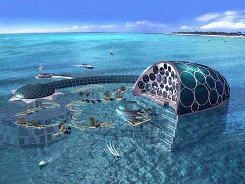 Underwater hotel in Dubai. I'd be too nervous to stay in there probably, but it'd be cool to see!