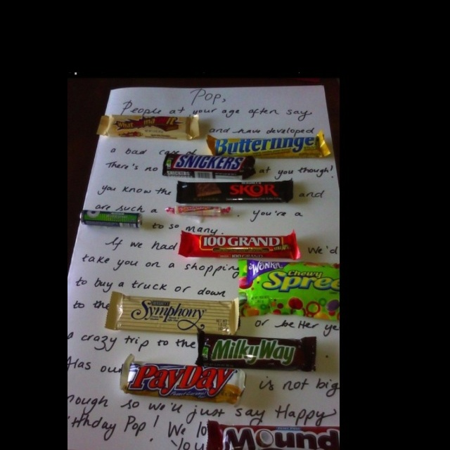 Candy Bars To Use For Birthday Cards Candy Bar Card That I Made