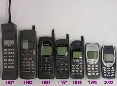 old Nokia phones. I had the one from 98. It was my first phone.  And it only held a charge for like 3 hours or so!