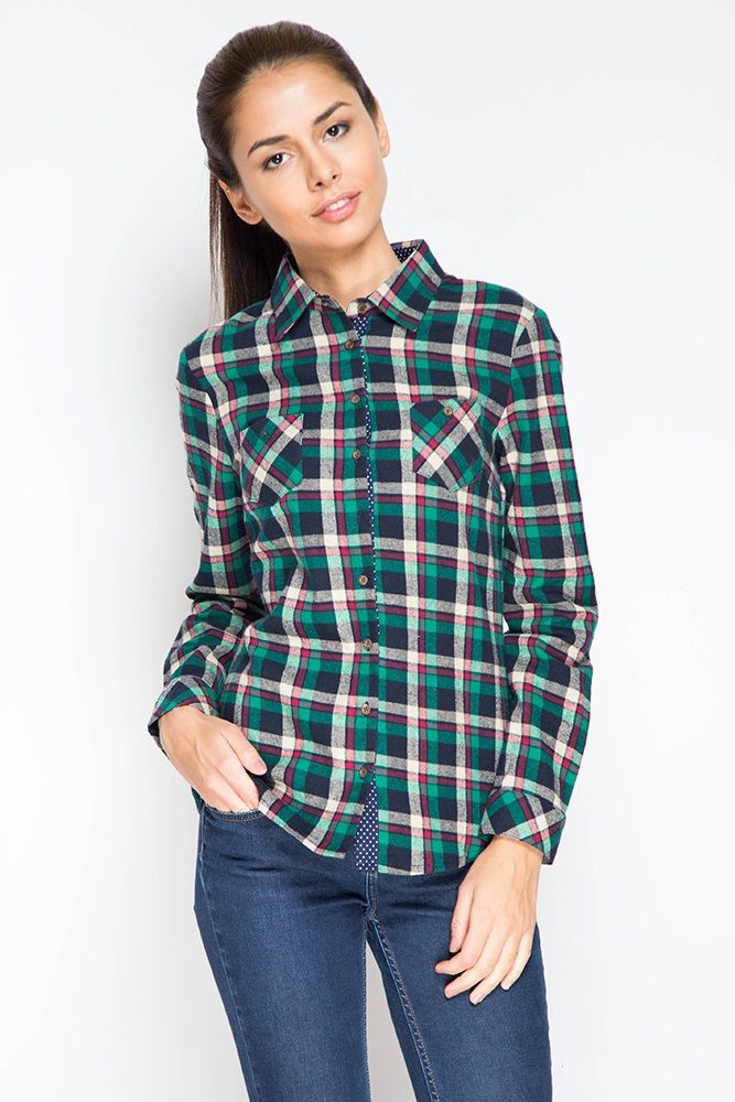 Женские рубашки в клетку | Клетчатые рубашки для девушек