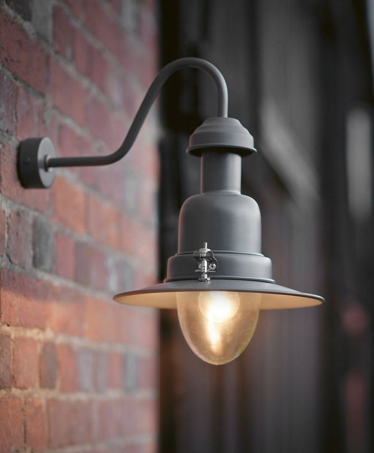 Stylish slate grey metal fishing light for ourdoors. - Best 25+ Outside Porch Lights Ideas On Pinterest Outdoor Porch