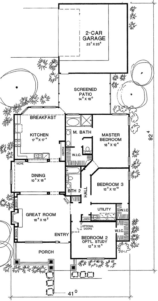 9 best images about house plans on pinterest for Long and narrow house plans