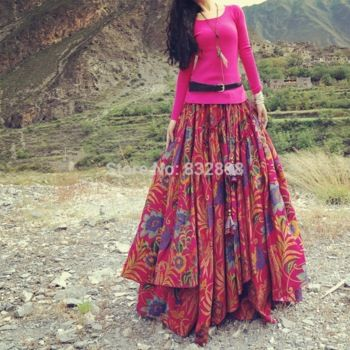 Red Flowing Thick Cotton Multicolor Print Skirts Elasticated Waist Long Winter Skirts Beautiful Skirt http://www.aliexpress.com/store/product/New-Fashion-Long-Red-Flowing-Skirts-Womens-Thick-Cotton-Multicolor-Print-Skirts-Winter-Skirts/832898_32233009754.html