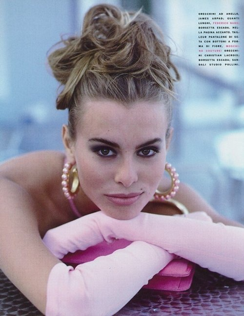 Niki Taylor, Vogue Italia, April 1991. Photographed by Arthur Elgort