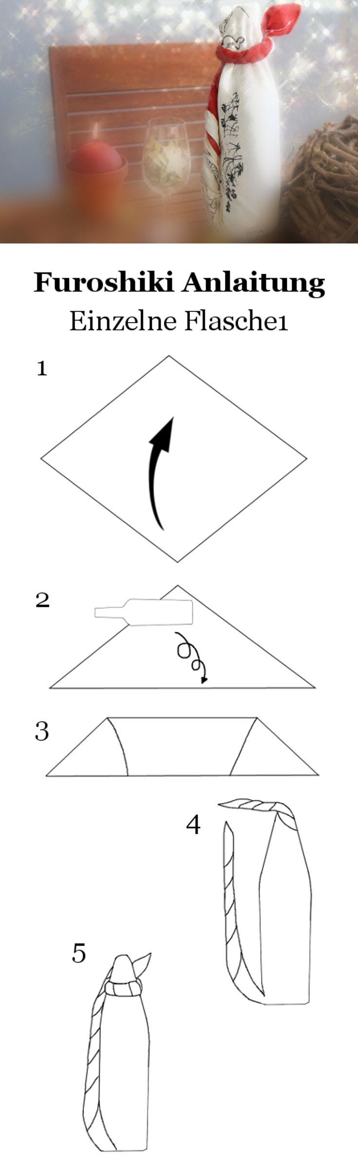 furoshiki anleitung eine flasche verpacken 1 furoshiki. Black Bedroom Furniture Sets. Home Design Ideas