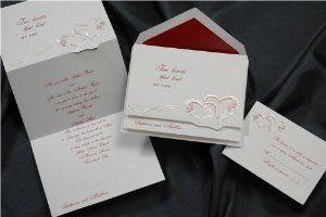 Two Hearts Beat in Claret Wedding Invitations by Birchcraft Studios. $103.90. Two Hearts Beat in Claret Wedding Invitations Wedding Invitations by Birchcraft Studios