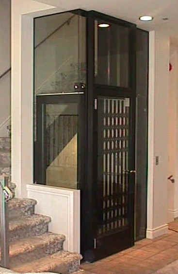 42 best elevator images on pinterest elevator ladders for Indoor elevator