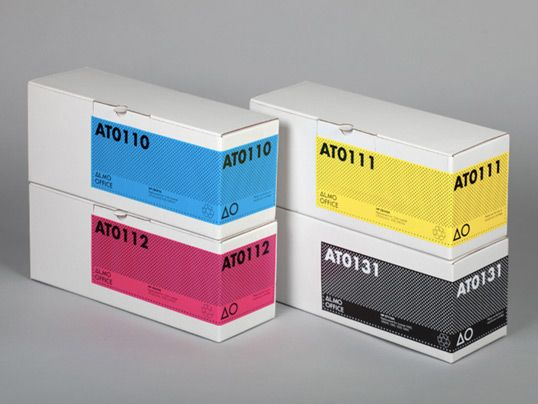 Design Inspiration, Pack Design, Nice Packaging, Almo Offices, Wonder Packaging, Packaging Design, Cmyk Stickers, Colors Codes, Offices Packaging