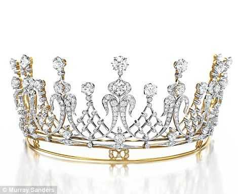 The antique Mike Todd diamond tiara dates back to 1880, and has an estimated price of £50,000 to £60,000
