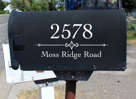 Best Mailbox Address Vinyl Design Decals Images On Pinterest - Custom vinyl decals numbers