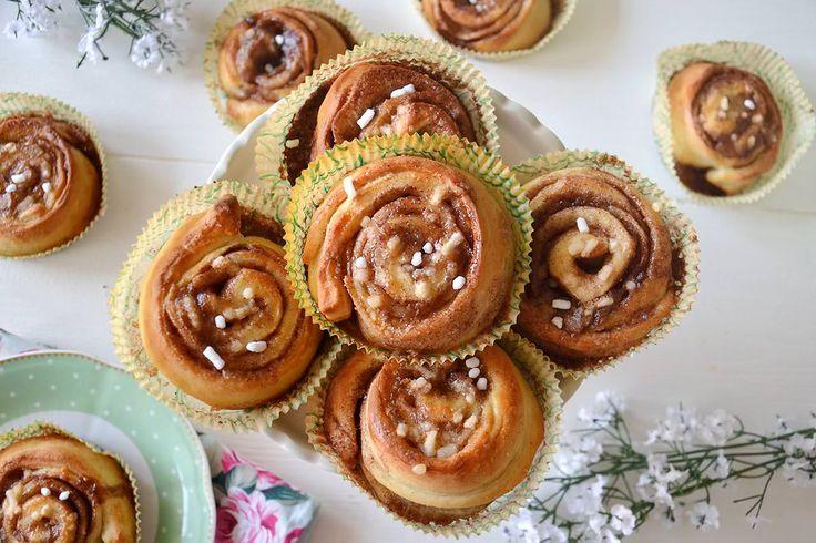 I Kanelbullar sono un tipico dolce svedese, sono delle brioscine alla cannella molto burrose e profumate, che ho avuto modo di assaggiare a casa di mia zia