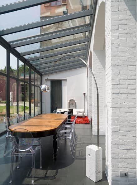 Ristrutturazione edilizia di parte di Villa Recrosio: Sala da pranzo in stile in stile Moderno di Pietro Carlo Pellegrini Architetto
