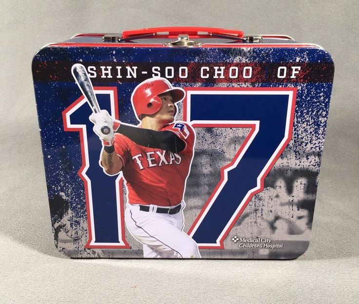 Texas Rangers Metal Tin Lunch Box - Shin- Soo Cho #17  Medical City Children's H #TexasRangers