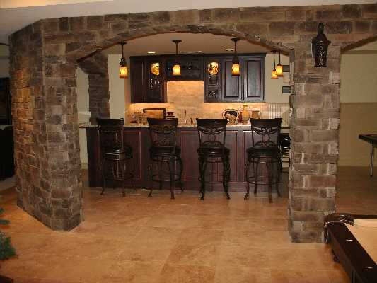 i want these stone arches in my basement home decorating ideas pinterest bar areas. Black Bedroom Furniture Sets. Home Design Ideas