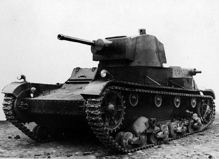 польский легкий трофейный танк 7TP