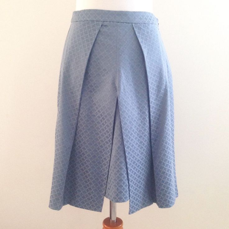NWT Asos Skirt Blue Print Patterned A Line Knee Length Size 4 Women #ASOS #ALine
