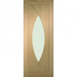XL Joinery Internal Oak Veneer Pesaro Clear Glazed Door