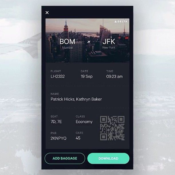 Awesome flight app prototype by Jekin Gala on @dribbble . . . . . . #uxigers #ux #ui #design #designer #userinterface #userexperienxe #usability #web #simple #minimal #dribbble #uxdesign #uidesign #COBE #cobelicious #cobeisfresh