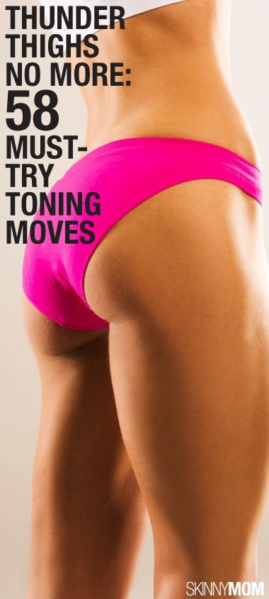 Thunder Thighs No More: 58 Must-Try Toning Moves .......A collection of 60 muscle-sculpting moves to work all areas of the thighs will be more than enough to get you well on your way to those gorgeous gams you've been envisioning