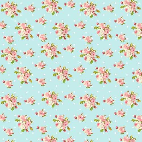 Shabby Chic papers - small roses blue
