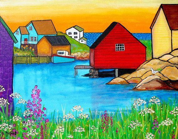 Cove Nueva Escocia solsticio de verano impresión por AliceinParis, $21.00