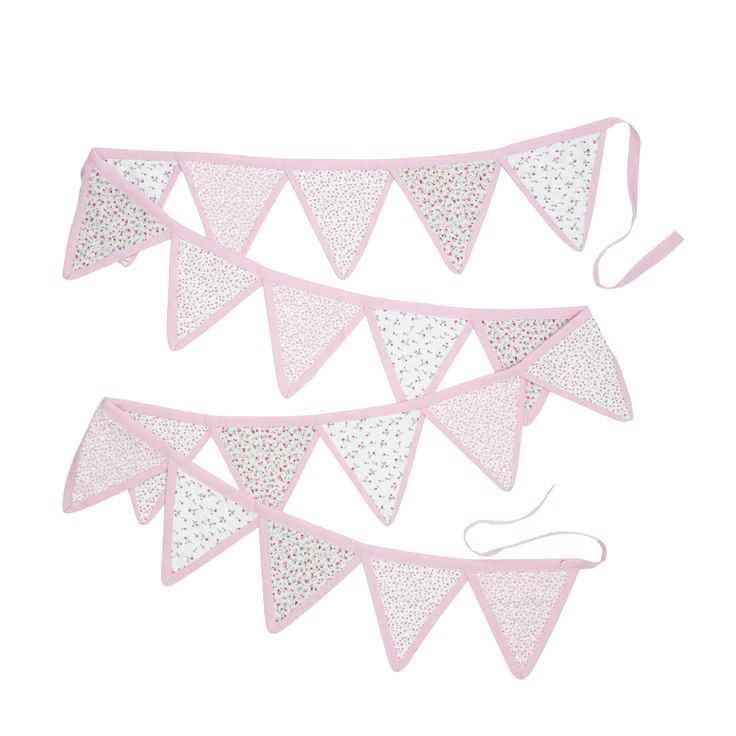 Girls Bella Butterfly Pink Bunting