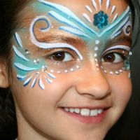 Halloween face painting • stenciled animal prints « Atop Serenity Hill