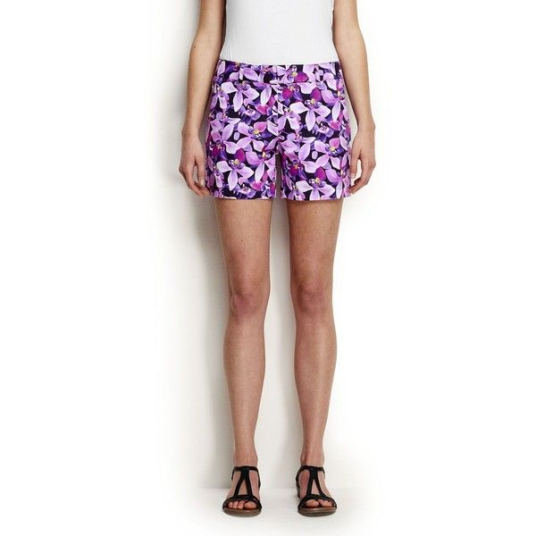 Lands' End Women's Petite Not-Too-Low Rise 5 Chino Shorts ($20) ❤ liked on Polyvore featuring shorts, black, lands end shorts, low rise shorts, chino shorts, petite shorts and summer shorts