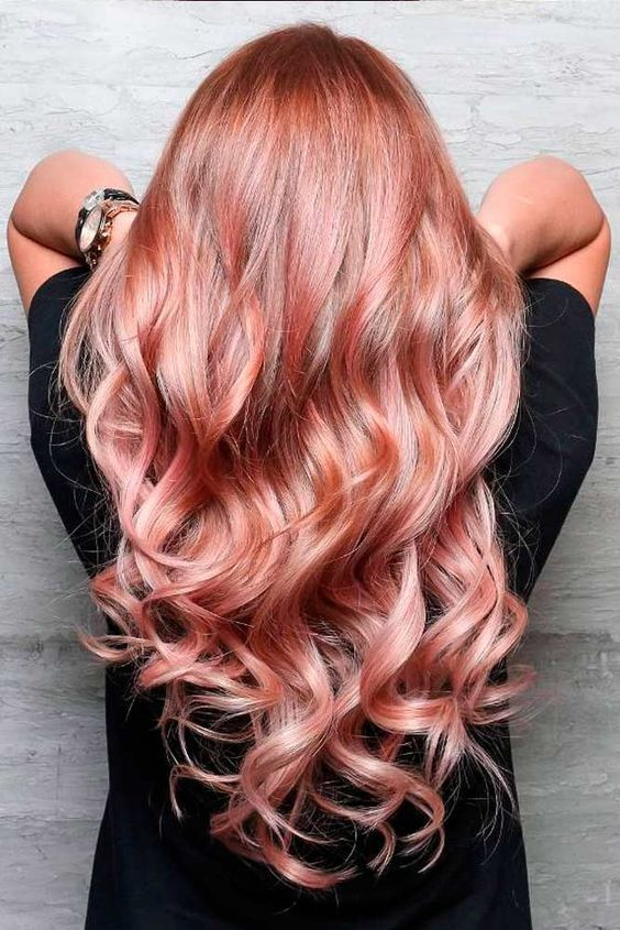 Color Hairstyles long hairstyle galleries page 6 long hairstyle and haircuts 18 Rose Gold Hair Color Trends