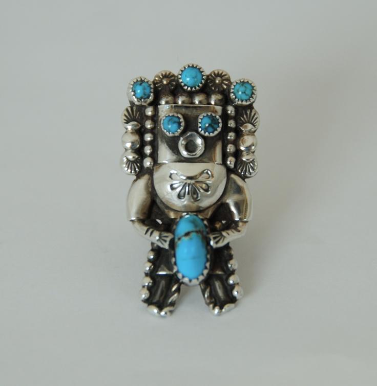 Jerry Roan Navajo Kachina Ring Native American Jewelry