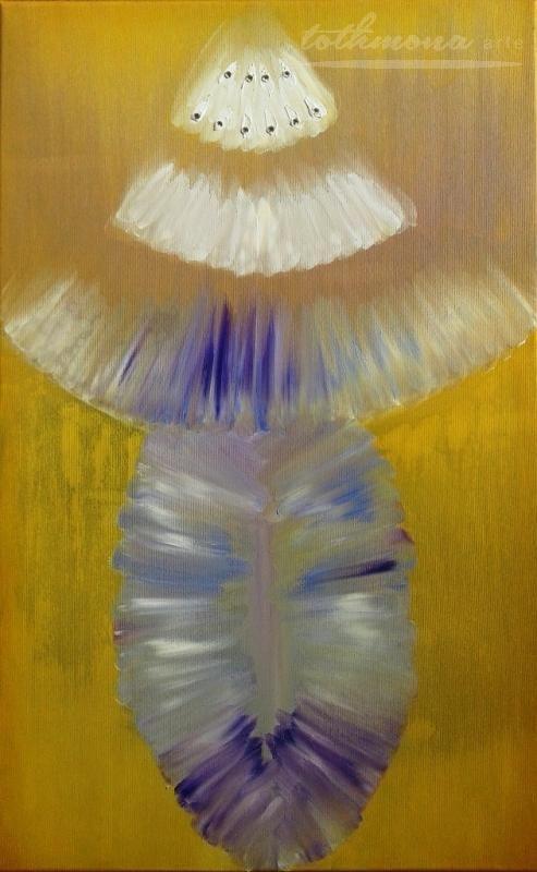 The Queen / oil, canvas, Swarovski strass replica, 50x80cm, 140€