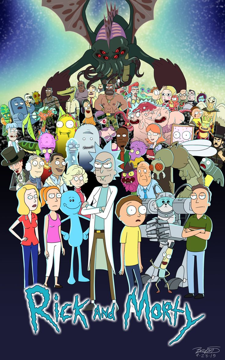 Rick and Morty Fan Poster by 3FrogBoy