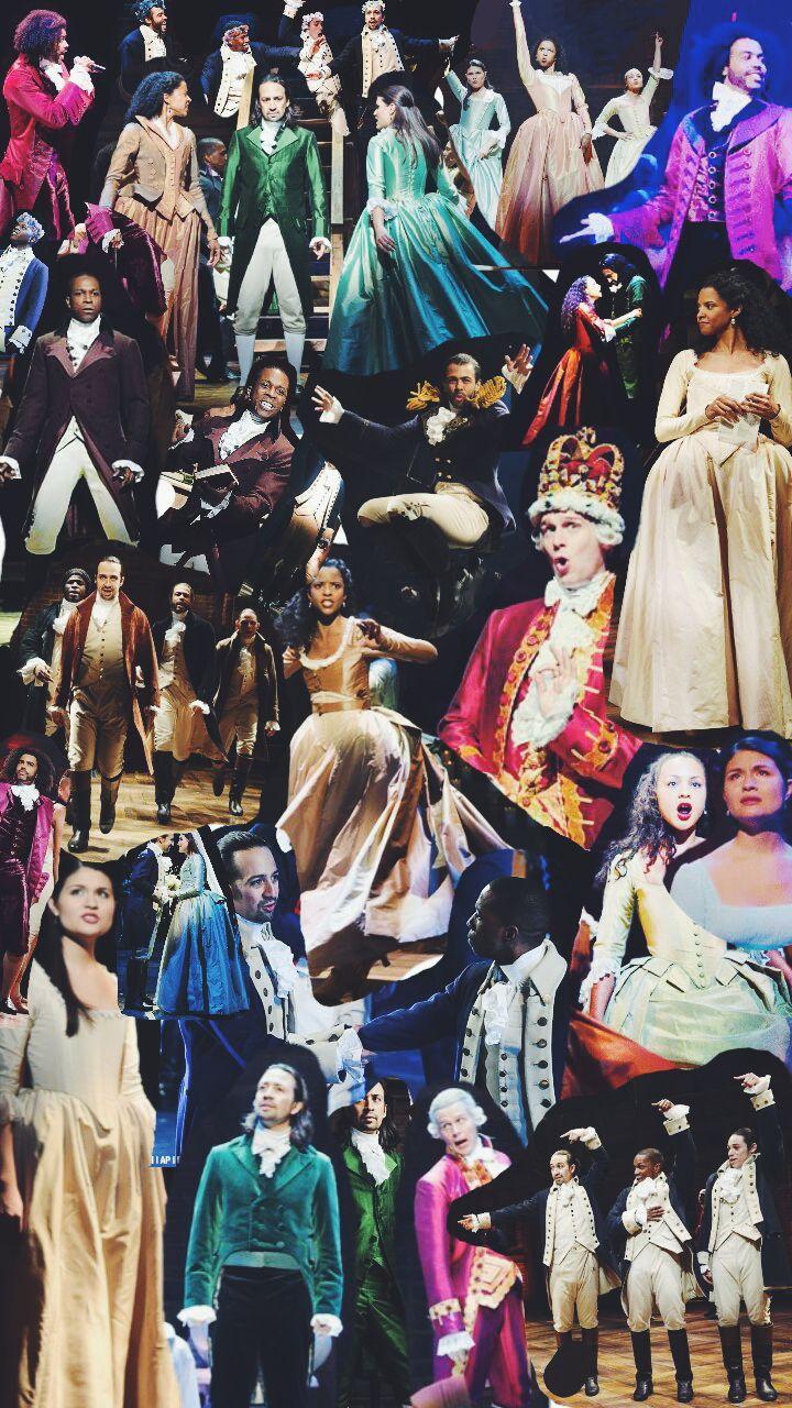 Marquise de Lafayette — Hamilton collage wallpaper